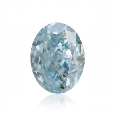 0.11 carat, Fancy Blue Green Diamond, Oval Shape, (SI1) Clarity, GIA