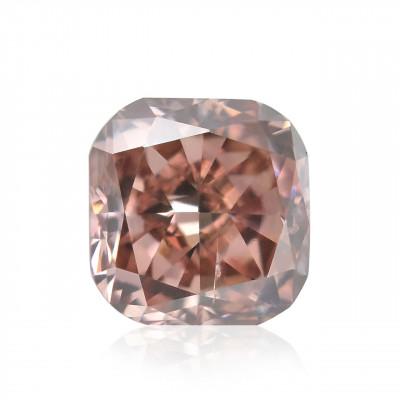 0.15 carat, Fancy Orangy Pink Diamond, Cushion Shape, SI2 Clarity, GIA