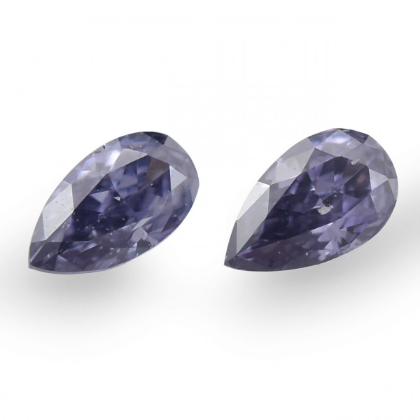 0.06 carat, Mix of Fancy Color Diamonds, Pear Shape, (SI1) Clarity, GIA