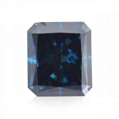 0.13 carat, Fancy Deep Green Blue Diamond, Radiant Shape, (SI2) Clarity, GIA