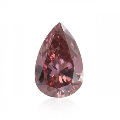0.15 carat, Fancy Deep Pink Diamond, Pear Shape, VS1 Clarity, GIA