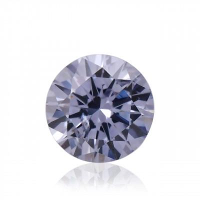 0.10 carat, Fancy Gray Violet Diamond, BL2, Round Shape, SI2 Clarity, ARGYLE & GIA