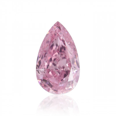 0.12 carat, Fancy Intense Purplish Pink Diamond, Pear Shape, (SI1) Clarity, GIA