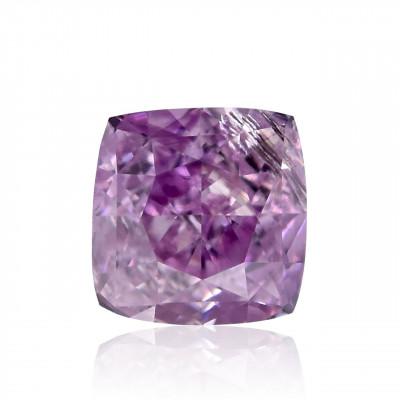0.12 carat, Fancy Intense Pink Purple Diamond, Cushion Shape, (I1) Clarity, GIA