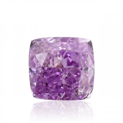 0.13 carat, Fancy Intense Purple Pink Diamond, Cushion Shape, GIA