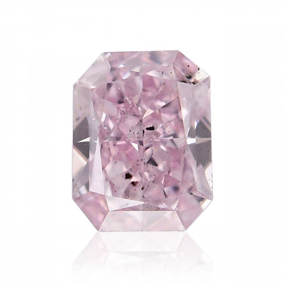 0.14 carat, Fancy Purple Pink Diamond, Radiant Shape, (I1) Clarity, GIA