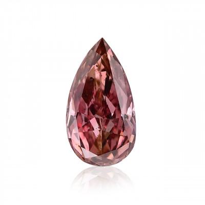 0.13 carat, Fancy Deep Pink Diamond, Pear Shape, (SI2) Clarity, GIA