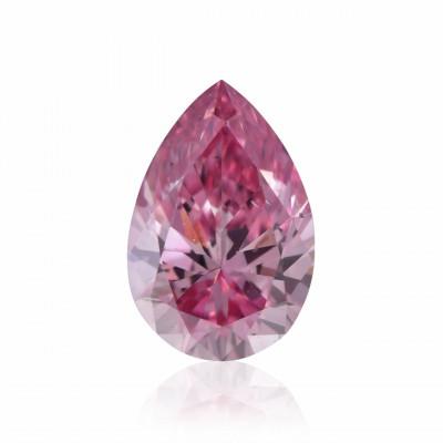 0.15 carat, Fancy Intense Purplish Pink Diamond, 4PP, Pear Shape, SI1 Clarity, ARGYLE