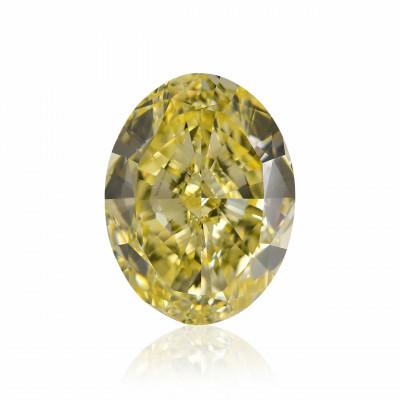 9.34 carat, Fancy Intense Yellow Diamond, Oval Shape, VVS1 Clarity, GIA