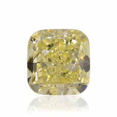 9.25 carat, Fancy Yellow Diamond, Cushion Shape, VS2 Clarity, GIA