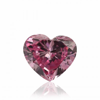 0.11 carat, Fancy Vivid Purplish Pink Diamond, Heart Shape, GIA