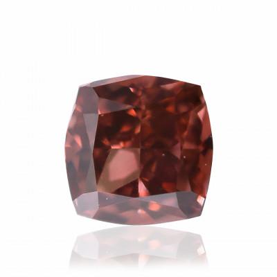 0.13 carat, Fancy Deep Brownish Orangy Pink Diamond, Cushion Shape, (VS2) Clarity, GIA