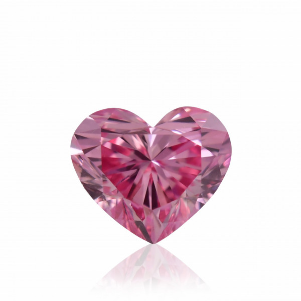 0.16 carat, Fancy Intense Purplish Pink Diamond, 4PP, Heart Shape, VS2 Clarity, ARGYLE