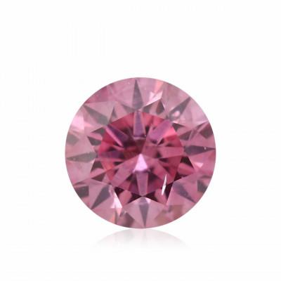 0.15 carat, Fancy Deep Pink Diamond, 3P, Round Shape, SI2 Clarity, GIA & ARGYLE