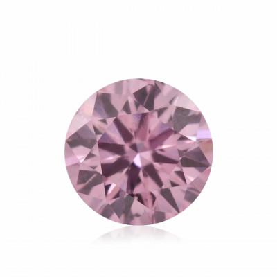 0.13 carat, Fancy Intense Purplish Pink Diamond, 5PP, Round Shape, (SI2) Clarity, ARGYLE