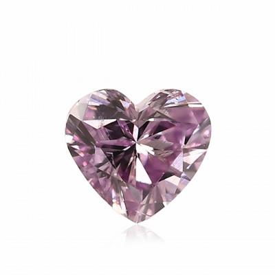 0.14 carat, Fancy Intense Pinkish Purple Diamond, Heart Shape, (SI1) Clarity, GIA