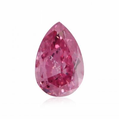 0.11 carat, Fancy Vivid Purplish Pink Diamond, Pear Shape, (I1) Clarity, GIA