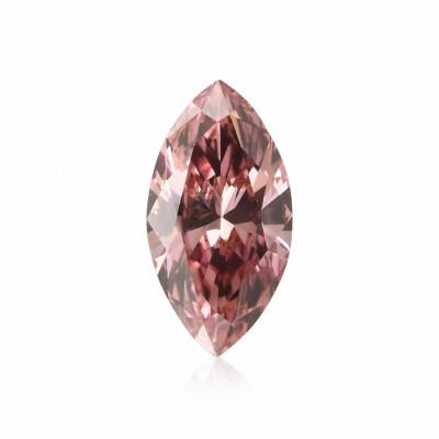 0.15 carat, Fancy Intense Orangy Pink Diamond, 4PR, Marquise Shape, VS2 Clarity, ARGYLE