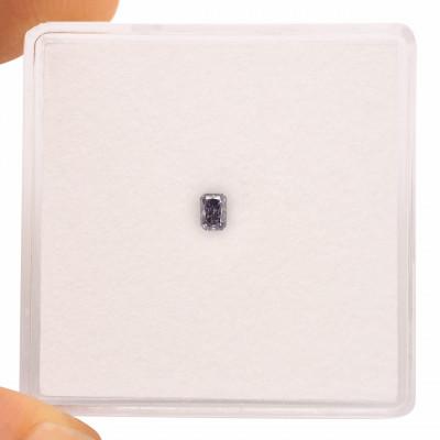 0.07 carat, Fancy Blue Gray Diamond, Radiant Shape, GIA