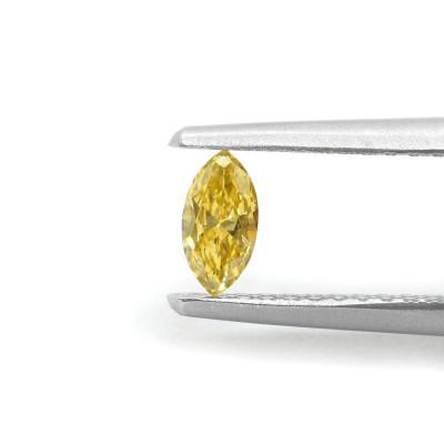 0.14 carat, Fancy Orangy Yellow Diamond, Marquise Shape, (VS1) Clarity, GIA