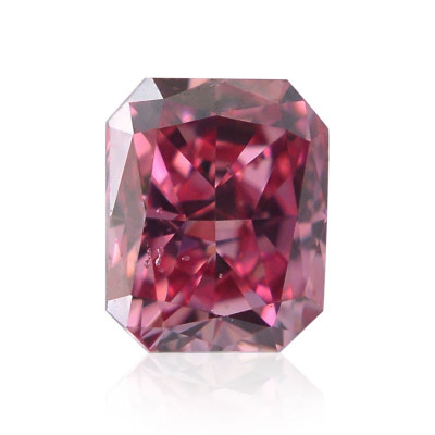 0.13 carat, Fancy Vivid Purplish Pink Diamond, Radiant Shape, (VS2) Clarity, GIA