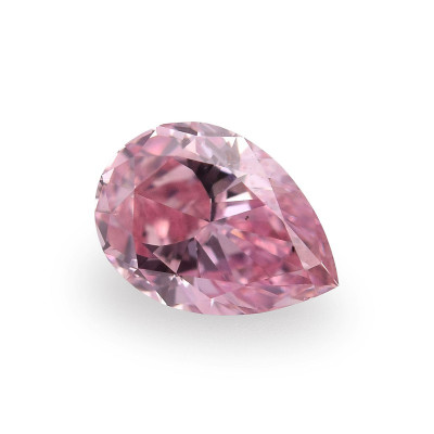 0.13 carat, Fancy Intense Pink Diamond, Pear Shape, (SI1) Clarity, GIA