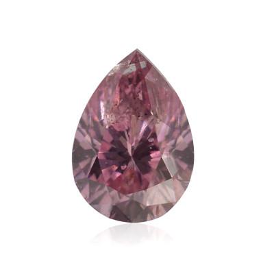 0.13 carat, Fancy Intense Purple Pink Diamond, Pear Shape, (I1) Clarity, GIA