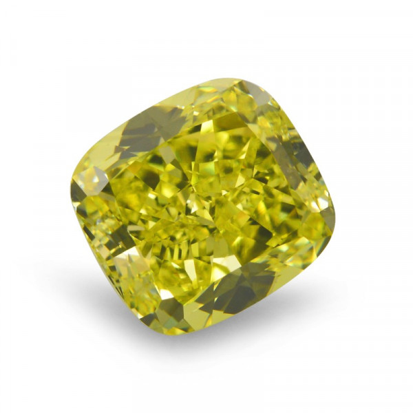 2.34 carat, Fancy Vivid Yellow Diamond, Cushion Shape, VS1 Clarity, GIA