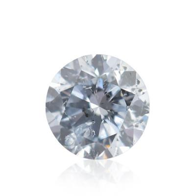 0.10 carat, Light Blue Diamond, Round Shape, (I1) Clarity, GIA