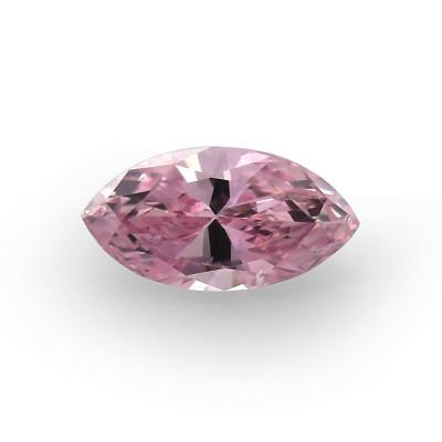 0.11 carat, Fancy Intense Pink Diamond, Marquise Shape, (SI1) Clarity, GIA