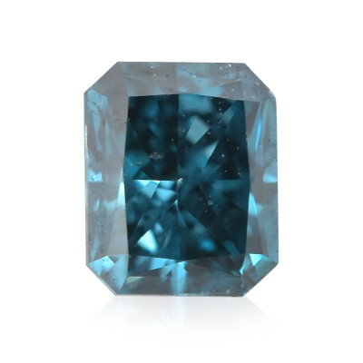 0.12 carat, Fancy Deep Green Blue Diamond, Radiant Shape, (SI2) Clarity, GIA