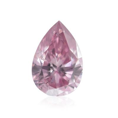 0.15 carat, Fancy Intense Purplish Pink Diamond, 6P, Pear Shape, SI2 Clarity, ARGYLE & GIA