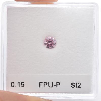 0.15 carat, Fancy Purplish Pink Diamond, 6PP, Round Shape, SI2 Clarity, ARGYLE & GIA