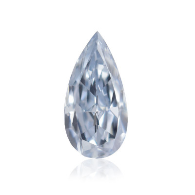 0.12 carat, Fancy Blue Diamond, Pear Shape, (VS1) Clarity, GIA