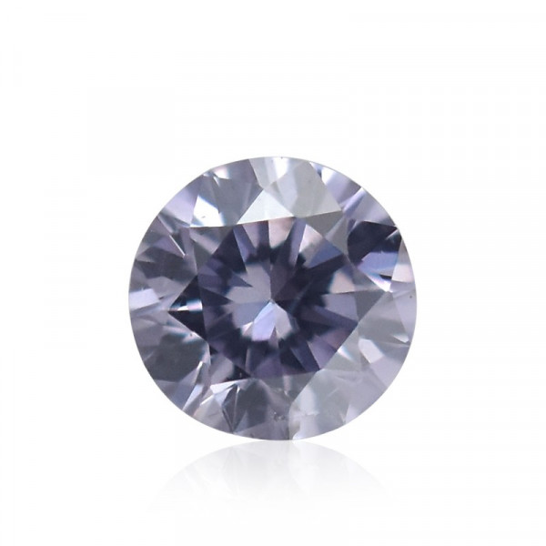 0.04 carat, Fancy Grayish Violet Diamond, Round Shape, (SI2) Clarity, GIA