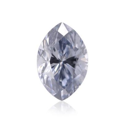 0.15 carat, Fancy Intense Blue Diamond, Marquise Shape, SI1 Clarity, GIA