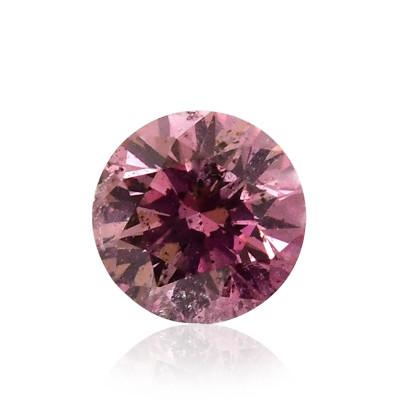 0.13 carat, Fancy Intense Purplish Pink Diamond, Round Shape, (I1) Clarity, GIA
