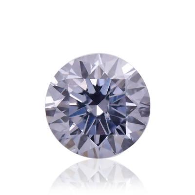 0.10 carat, Fancy Gray Violet Diamond, BL2, Round Shape, I1 Clarity, ARGYLE & GIA