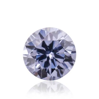 0.09 carat, Fancy Gray Violet Diamond, BL2, Round Shape, SI1 Clarity, ARGYLE & GIA