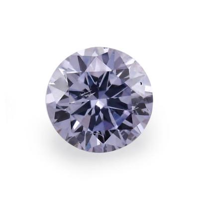 0.09 carat, Fancy Gray Violet Diamond, BL2, Round Shape, SI2 Clarity, ARGYLE & GIA