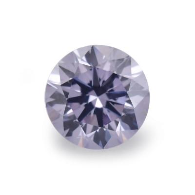 0.08 carat, Fancy Gray Violet Diamond, BL2, Round Shape, SI2 Clarity, ARGYLE & GIA