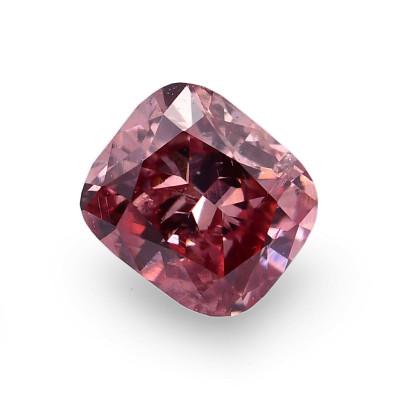 0.15 carat, Fancy Deep Pink Diamond, Cushion Shape, (SI2) Clarity, GIA