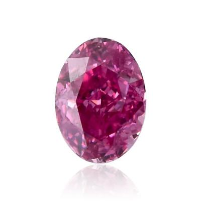 0.08 carat, Fancy Vivid Purplish Pink Diamond, Oval Shape, (VS1) Clarity, GIA