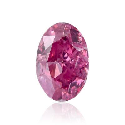 0.11 carat, Fancy Vivid Purplish Pink Diamond, Oval Shape, (VS1) Clarity, GIA