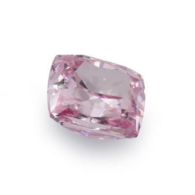0.10 carat, Fancy Intense Pink Diamond, Cushion Shape, (SI2) Clarity, GIA
