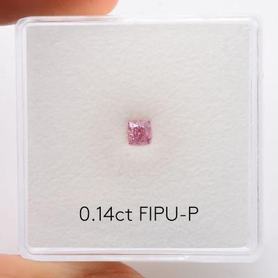 0.14 carat, Fancy Intense Purplish Pink Diamond, Cushion Shape, (SI2) Clarity, GIA