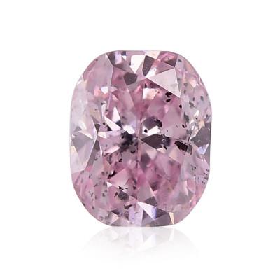0.15 carat, Fancy Purplish Pink Diamond, Cushion Shape, (I1) Clarity, GIA