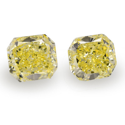 9.06 carat, Fancy Intense Yellow Diamonds, Radiant Shape, VS1 Clarity, GIA