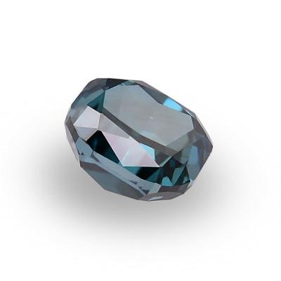 0.15 carat, Fancy Deep Blue Green Diamond, Cushion Shape, VS2 Clarity, GIA