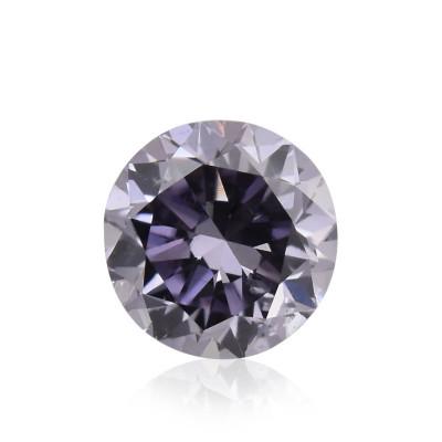 0.13 carat, Fancy Grayish Violet Diamond, Round Shape, (SI2) Clarity, GIA